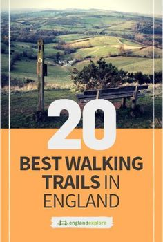 Some of the most well-known walking trails are known as the National Trails–these are walking, cycling, and horse riding routes that take you through some of the most beautiful landscapes in all of England. Some of these trails go on for miles and miles; the Pennine Way, one of the most famous, meanders 268 miles through the countryside. #walkingtrails