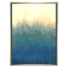 Framed canvas wall art with a watercolor-inspired design. Made in the USA.  Product: Wall artConstruction Material: ...