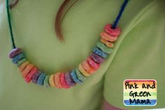St.Patricks Day - Rainbow on a string - super cute and an easy way to send home a treat.