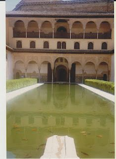 Pool in the Alhambra palace, Spain.