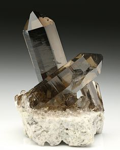 A specmen of beautiful smoky quartz is a fine addition to any collection. The smoky effects can be due to a number of natural influences.