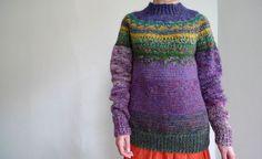 FREE SHIPPING Handmade Icelandic style  sweater by TASSSHA on Etsy