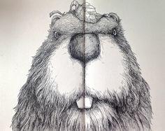 Beaver - Moleskine Sketch on Behance