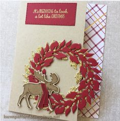 Christmas Cards 2018, Stamped Christmas Cards, Xmas Cards, Handmade Christmas, Holiday Cards, Christmas Moose, Stamping Up Cards, Birthday Cards For Men, Winter Cards