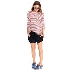 The Bateau Top | pullover top | vacation basics | maternity bateau top