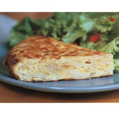 Spanish Tortilla recipe. Cube the potatoes into 1/2 inch pieces instead of slicing. This is easy and delicious, and you can use leftovers the next day on a sandwich.