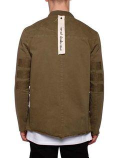 Disstressed Jacket Green