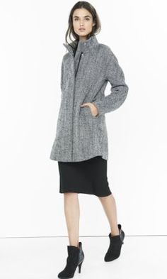 tweed cocoon coat from EXPRESS