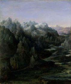 1530 Mountain Range - Albrecht Altdorfer
