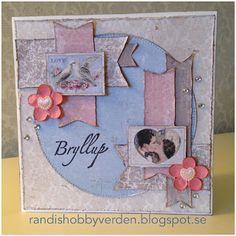 Randis hobbyverden: Vintage bryllupskort med Maja design