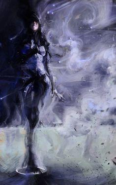 Mass Effect Speedpaintings - by Sean Donaldson. Kasumi