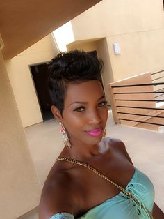 926 best short black hairstyles images in 2019 Short Sassy Hair, Short Hair Cuts, Short Hair Styles, Short Afro, Cute Hairstyles For Short Hair, Pixie Hairstyles, Pelo Afro, Relaxed Hair, Hair Images