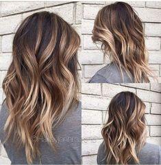 10 trendige braune Balayage-Frisuren für mittellanges Haar