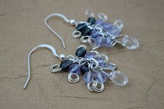 Valentine's Day Gift Romantic Wire Wrapped Faceted Crystal Inspired by Nature Earrings by ForestBeads, $19.99