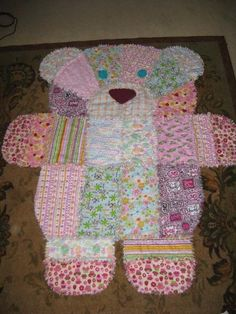 Quilting: Animal Baby Quilts      GET pattern here  http://quiltersbug.com/store/products/rag-puppy-kitten-bear-quilt-pattern-digital-download/
