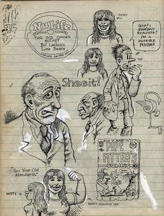 Robert Crumb c.1970 sketchbook | scan from the gallery | Flickr