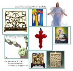 """Religious Art on Etsy by TerryTiles2014 - Volume 44"" by terrytiles2014 ❤ liked on Polyvore featuring interior, interiors, interior design, home, home decor and interior decorating"