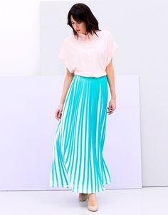 Spódnica z dwukolorową plisą