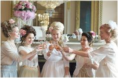 Ask everyone to come in pastels and modern Marie Antoinette style