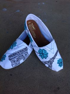 Hand Painted Paris Toms by Kim Griffin