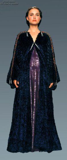 Star Wars Episode III: Revenge of the Sith. Senator Padmé Amidala (Natalie Portman). Dressing gown costume.