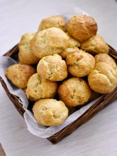 French Cheese Gougère (Choux Puffs)