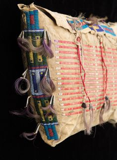 One of a matched pair of Sioux beaded and quilled possible bags. Brian Lebel's Old West Auction. June 11, 2016. Est. $8,000-12,000.