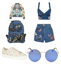"""""""Butterfly Fever"""" by leah3000 ❤ liked on Polyvore featuring Gucci, Valentino and MICHAEL Michael Kors"""