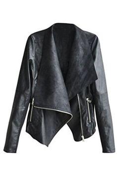 Pink Queen® Women's Plus Size Ultrathin Faux Leather Soft Lapel Coat Jacket at Amazon Women's Coats Shop