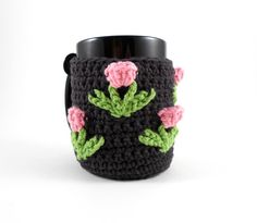Crochet+Mug+Cozy+with+Pink+Tulips+Crochet+Coffee+by+ProchetByEAS