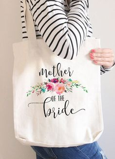 Bridesmaid Tote Bag Bridesmaid Gift Monogram Tote by instanttrends Monogram Tote Bags, Personalized Tote Bags, Canvas Tote Bags, Floral Tote Bags, Custom Tote Bags, Bridesmaid Tote Bags, Bridesmaid Gifts, Tote Bags For College, Painted Bags
