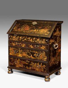 A Rare 18th Century Chinese lacquered Bureau