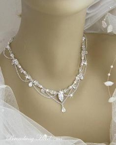 bridal necklace-this is so elegant!