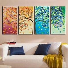 """▷ Ideen: moderne Leinwandbilder selber gestalten Create canvas pictures yourself diy seasons ideas Related posts:Elegant decoration ideas with branches - BeautifulPictures - Portrait of a Child """"Elephant with Crown"""" Nursery - a unique. Diy Wall Art, Diy Art, Wall Art Decor, Diy Canvas, Canvas Art, Canvas Prints, Diy Para A Casa, Create Your Own Canvas, Ideias Diy"""