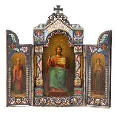 Derived from the art of the Byzantine Empire and influenced by Ancient Egyptian and Greek traditions, Russian iconography is now revered by collectors. Russian Icons, Russian Art, Costume Russe, Tsar Nicolas Ii, Religious Icons, Religious Images, Russian Orthodox, Prince, Old Paintings