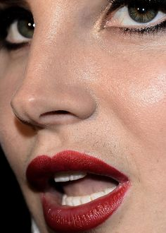 One of my favorite close-ups.   Lana Del Rey  (Source: celebritycloseup)  2,786 notes   lana del rey   lips   celeb   celebs   close-up   celebrities   make-up