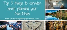 Planning your mini-moon isn't easy and choosing the perfect spot less so. These top 3 tips should help you to plan your first trip away as a married couple!
