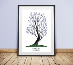 Instant Download Fingerprint Tree Judith wedding thumbprint   Etsy Wedding Fingerprint Tree, Fingerprint Art, Bridal Shower Decorations, Birthday Party Decorations, Presentation Pictures, Gift Drawing, Ink Color, Party Gifts, Etsy