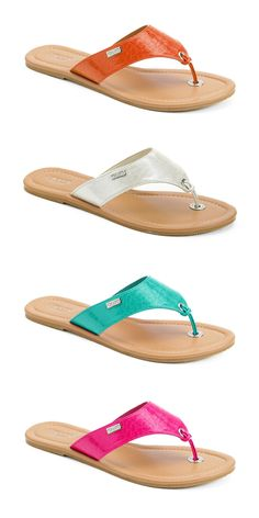 Summer sandals inspired by surf and sun. Chaps #sandals #Kohls