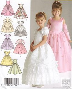 Childs special Occasion Dress, Sewing pattern Simplicity 4764 Size 3-4-5-6 Pageant Dress Pattern