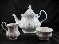 Royal Albert Memory Lane Large Teapot with Cream & Sugar