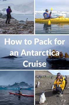 How to Pack for an Antarctica Cruise | When going on an Antarctica Cruise, one would think that you need to pack a ton of travel gear and clothing. However, you may find that when you pack for an Antarctica Cruise, you can bring far less than you'd expect. | The Planet D Adventure Travel Blog