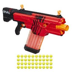 Amazon.com: Nerf Rival Khaos MXVI-4000 Blaster (Red): Toys & Games