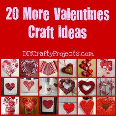20 More Valentines Day Heart Craft Ideas - DIY Crafty Projects My Funny Valentine, Homemade Valentines Day Cards, Cute Valentines Day Ideas, Valentine Crafts For Kids, Valentines Day Hearts, Valentine Day Love, Valentines Diy, Holiday Crafts, Holiday Fun