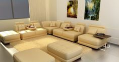 5004 - Modern Bonded Leather Sectional Sofa - Stylish Design Furniture