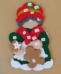 Bordados Oma - Porta Cubiertos Sra Noel Felt Christmas Decorations, Felt Christmas Ornaments, Handmade Ornaments, Handmade Toys, Christmas Themes, Handmade Christmas, All Things Christmas, Christmas Holidays, Halloween Christmas