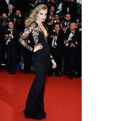 Cara Delevigne in Burberry - Absolutely stunning at the Cannes Film Festival