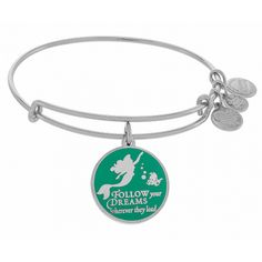 Silver Ariel Follow Your Dreams Wherever They Lead Alex and Ani Bracelet