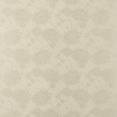 Kimono Dark Linen Floral Wallpaper