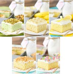 One Homemade Cake Mix - 5 different flavors! Easy to make and switch up!